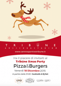 Invito all'evento Tribune Xmas Party Pizza & Burgers 18 dicembre 2015